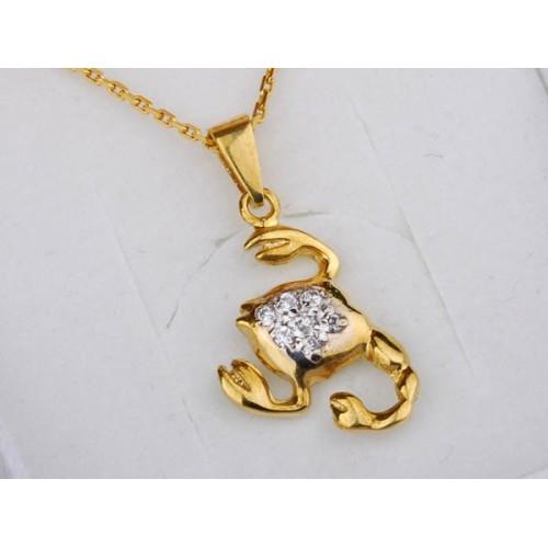 Złoty znak zodiaku SKORPION