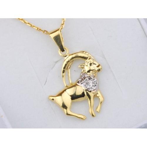 Złoty znak zodiaku KOZIOROŻEC
