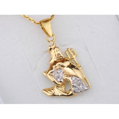 Złoty znak zodiaku WODNIK