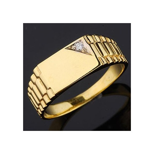 Sygnet złoty z cyrkonią