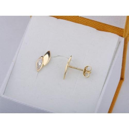 Kolczyki złote z brylantami, kolor do wyboru - biały lub żółty