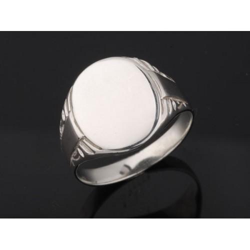 Sygnet srebrny owalny