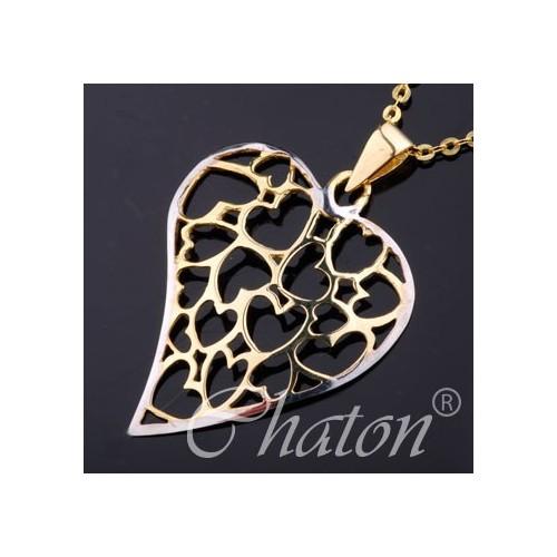 Wisiorek złoty Ażurowe Serce