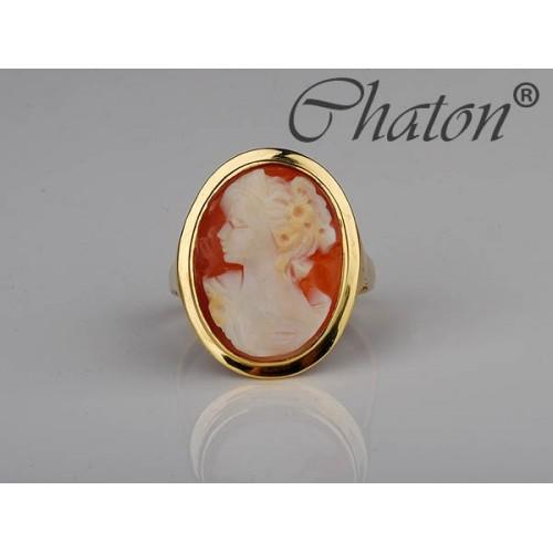 Złoty pierścionek z Kameą - piękna Kamea
