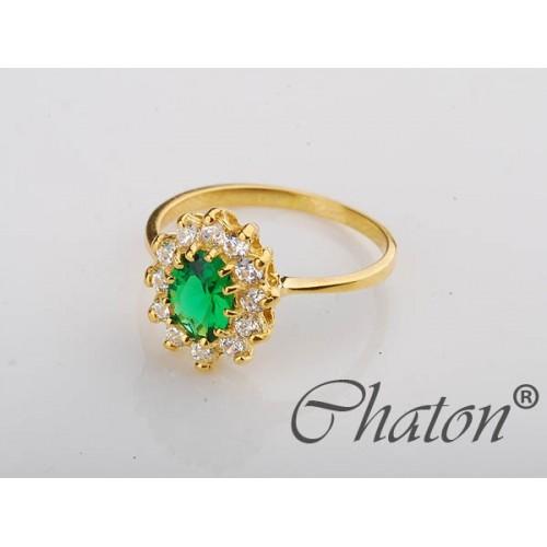 Złoty pierścionek z cyrkoniami Swarowski - piękny karmazerung - różne kolory