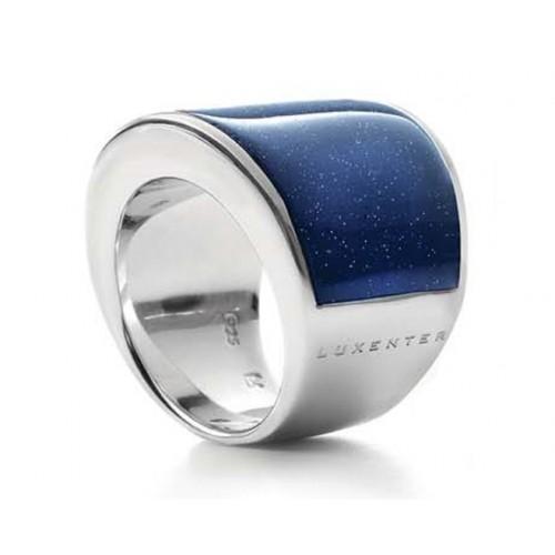 Pierścionek LUXENTER niebieski awenturyn