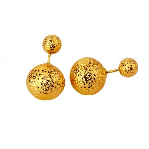 Kolczyki złote KULE