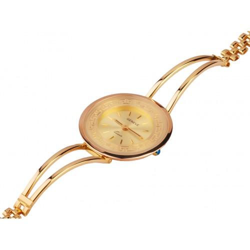 Zegarek złoty z meandrem greckim
