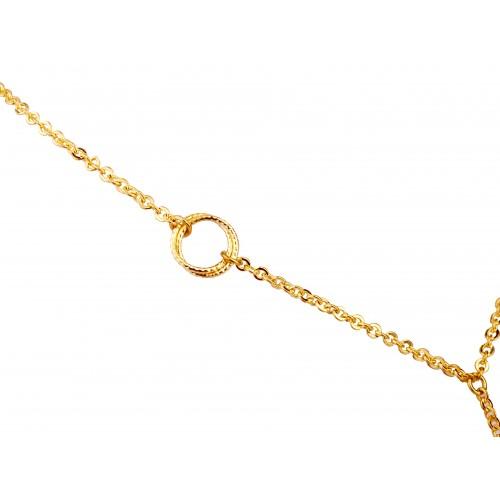 Naszyjnik złoty ażurowe koła