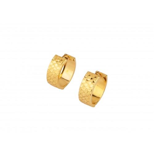 Kolczyki złote szerokie