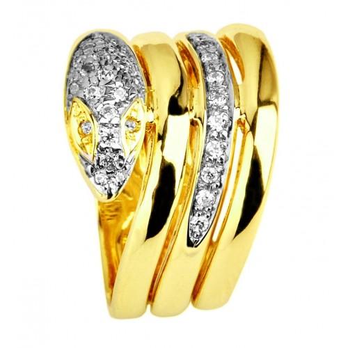 Pieścionek Złoty ŻMIJA szeroki i oryginalny