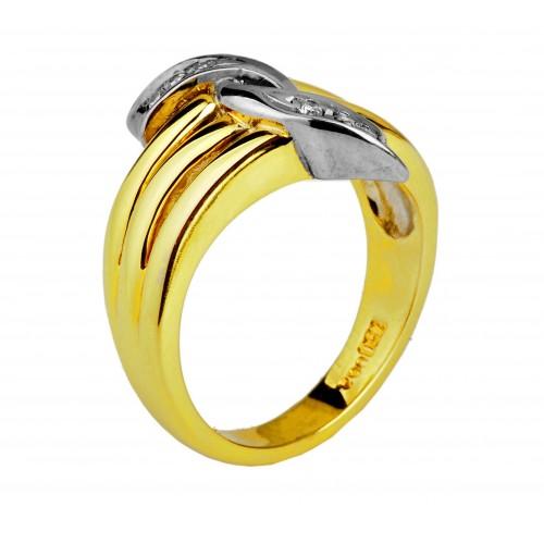 Pierścionek Złoty z cyrkoniami Swarovski w próbie 750 !