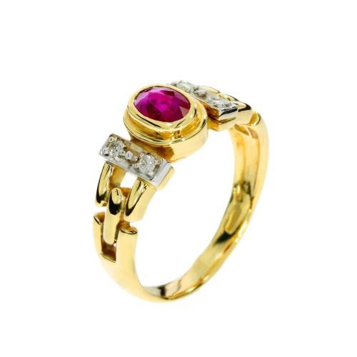 Pierścionek z rubinem na zaręczyny